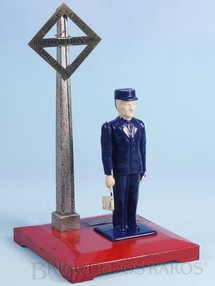 Brinquedos Antigos - Lionel - Guarda com bandeira 1045 Operating Watchman Ano 1946 a 1950