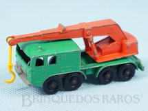 Brinquedos Antigos - Matchbox - Guindaste Eight Wheel Crane Truck black plastic Regular Wheels