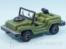 1. Brinquedos antigos - Pevi - Gurgel X10 militar com canhão 14,00 cm de comprimento Década de 1970