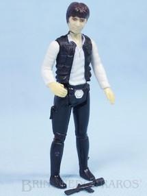 Brinquedos Antigos - Glasslite - Han Solo Combatente Estelar Mercenário Star Wars Lucas Film perfeito estado completo com Arma Década de 1980