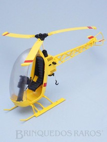 Brinquedos Antigos - Estrela - Helicóptero do Falcon completo Perfeito estado Adesivos réplica Edição 1978