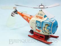 1. Brinquedos antigos - Sem identificação - Helicoptero VX 100 com 17,00 cm de comprimento Voa preso por um fio ao teto Década de 1960