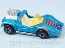 1. Brinquedos antigos - Matchbox - Hellraiser Superfast azul metálico