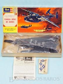 1. Brinquedos antigos - Revell - Hidroavião Martin Mariner PBM-5 Caixa Dura Fabricação pré 1964