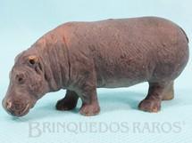 1. Brinquedos antigos - Elastolin - Hipopótamo Década de 1970