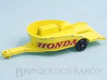 1. Brinquedos antigos - Matchbox - Honda Motorcycle Trailer Regular Weels