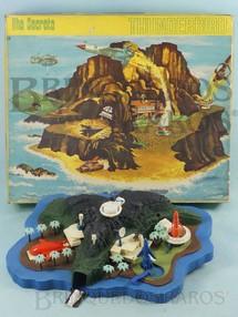 1. Brinquedos antigos - Trol - Ilha Secreta Thunderbirds 30 cm de comprimento Completa com 5 naves Perfeito estado 100% original  Década de 1960
