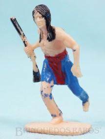1. Brinquedos antigos - Casablanca e Gulliver - Índio correndo com rifle Distribuído pela Trol e pela Viocena Década de 1970