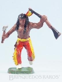 1. Brinquedos antigos - Casablanca e Gulliver - Índio correndo com rifle e machado Casablanca Década de 1960