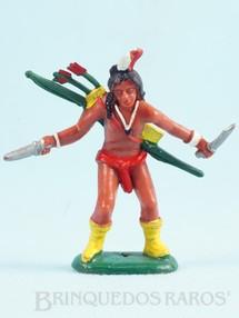 1. Brinquedos antigos - Casablanca e Gulliver - Índio de pé com facas Ano 1986