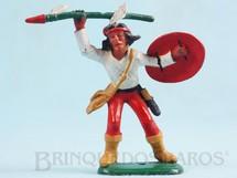Brinquedos Antigos - Casablanca e Gulliver - �ndio de p� com lan�a e escudo Ano 1986