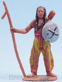Brinquedos Antigos - Casablanca e Gulliver - Índio de pé com lança e escudo Gulliver Década de 1970