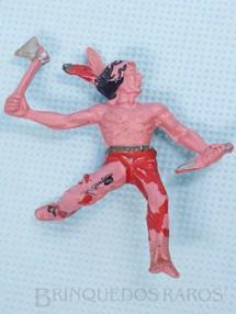 1. Brinquedos antigos - Casablanca e Gulliver - Indio escalando a paliçada com faca e machado