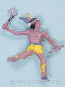 1. Brinquedos antigos - Casablanca e Gulliver - Índio escalando a paliçada com faca e machado Índio Pulador Casablanca Numerado 9