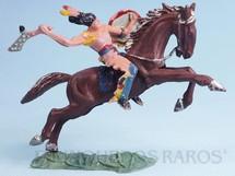 Brinquedos Antigos - Casablanca e Gulliver - Índio Grande Trovão com Tacape numerado 137 e Cavalo índio numerado 157 Conjunto Original Casablanca Série Caravana Ano 1965 RESERVED***AB***