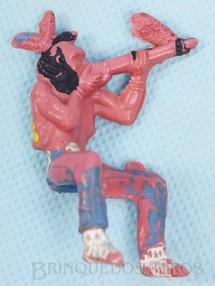 Brinquedos Antigos - Casablanca e Gulliver - �ndio montado a cavalo atirando com rifle