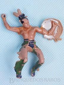 Brinquedos Antigos - Casablanca e Gulliver - �ndio montado a cavalo com escudo