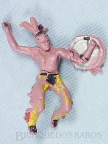 1. Brinquedos antigos - Casablanca e Gulliver - Índio montado a cavalo com escudo