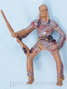 Brinquedos Antigos - Casablanca e Gulliver - Índio montado a cavalo com Rifle Série Planície Selvagem Década de 1970