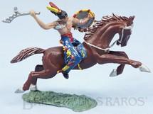 Brinquedos Antigos - Casablanca e Gulliver - Índio montado a Cavalo com tacape e escudo Casablanca Cavalo numerado 157 Década de 1960