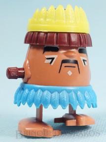 1. Brinquedos antigos - Trol - Indiozinho Mexe-Mexe Trol Cacique com 5,50 cm de altura Década de 1980