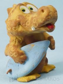 Brinquedos Antigos - Floc - Jacaré Surfista com apito 17,00 cm de altura Década de 1980