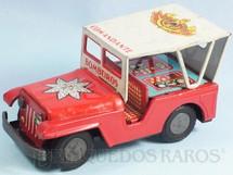 1. Brinquedos antigos - Estrela - Jeep Willys Bombeiro Comandante com 18,00 cm de comprimento Ano 1967