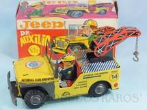 1. Brinquedos antigos - Saxo - Jeep Willys Guincho Automovil Club Argentino Jeep de Auxilio com 21,00 cm de comprimento Década de 1970