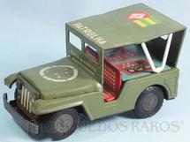 1. Brinquedos antigos - Estrela - Jeep Willys Polícia do Exercito Patrulha com 18,00 cm de comprimento Ano 1967