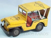 1. Brinquedos antigos - Estrela - Jeep Willys Polícia Rodoviária Comandante com 18,00 cm de comprimento Ano 1967