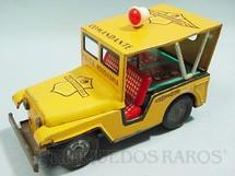 1. Brinquedos antigos - Estrela - Jeep Willys Polícia Rodoviária Comandante com Sinaleiro Giratório 18,00 cm de comprimento Ano 1969