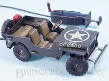 1. Brinquedos antigos - Arnold - Jeep Willys da Força de Ocupação Movimento por cabo com  manivela Made in US Zone Década de 1950