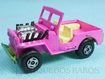 1. Brinquedos antigos - Matchbox - Jeep Willys Hot Rod Superfast Rosa