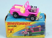 Brinquedos Antigos - Matchbox - Jeep Willys Hot Rod Superfast Rosa