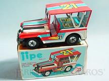 1. Brinquedos antigos - Estrela - Jeep Willys Rally com 18,00 cm de comprimento Ano 1977