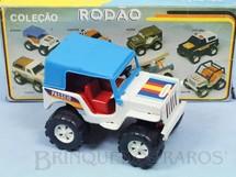 Brinquedos Antigos - Bandeirante Banesa - Jeep Willys versão Passeio Coleção Rodão com 11,00 cm de comprimento Década de 1980