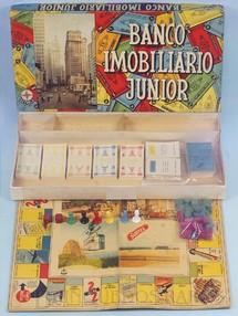 1. Brinquedos antigos - Estrela - Jogo Banco Imobiliário Junior completo Ano 1963