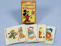 1. Brinquedos antigos - Estrela - Jogo de Cartas Cartões Disney com figuras do Zé Carioca Pluto Pato Donald Mickey e Tio Patinhas Década de 1970