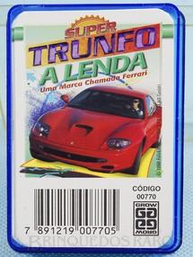 1. Brinquedos antigos - Grow - Jogo Super Trunfo A Lenda chamada Ferrari Década de 1980
