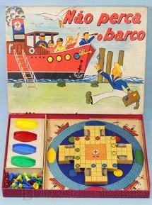 1. Brinquedos antigos - Estrela - Jogo Não Perca o Barco Década de 1960