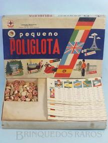 Brinquedos Antigos - Estrela - Jogo O Pequeno Poliglota Série Certame Instrutivo Prof. Alcides Nascimento Caixa Datada 03 Outubro de 1968