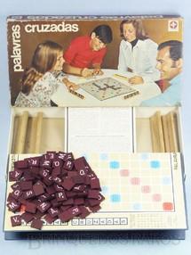 Brinquedos Antigos - Estrela - Jogo Palavras Cruzadas completo com 120 pedras de madeira D�cada de 1970