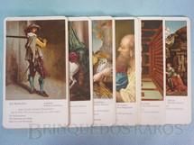 1. Brinquedos antigos - Sem identificação - Jogo Quarteto Arte Clássica incompleto faltam 3 cartas com 12 grupos de 4 cartas Ano 1950