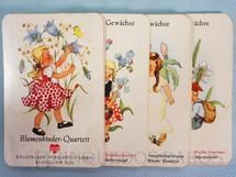 1. Brinquedos antigos - Joker Bielefelder - Jogo Quarteto Blumenkinder Quartett Crianças e Flores completo com 6 grupos