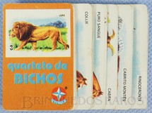 1. Brinquedos antigos - Estrela - Jogo Quarteto de Bichos completo com 7 grupos de 4 cartas Década de 1970