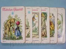 1. Brinquedos antigos - Schmid  - Jogo Quarteto Märchen Quartett Contos de Fadas completo com 9 grupos de 4 cartas Década de 1960