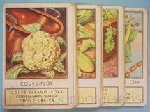 1. Brinquedos antigos - Melhoramentos - Jogo Quarteto Nossa Horta completo com 12 grupos de 4 cartas Década de 1960