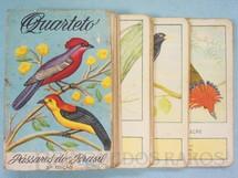 1. Brinquedos antigos - Melhoramentos - Jogo Quarteto Pássaros do Brasil com 12 grupos de 4 cartas incompleto falta uma carta Década de 1970