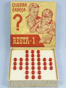 Brinquedos Antigos - Mueller e Cia - Jogo Quebra Cabe�a Resta 1 D�cada de 1960
