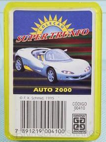 1. Brinquedos antigos - Grow - Jogo Super Trunfo Auto 2000 Década de 1990